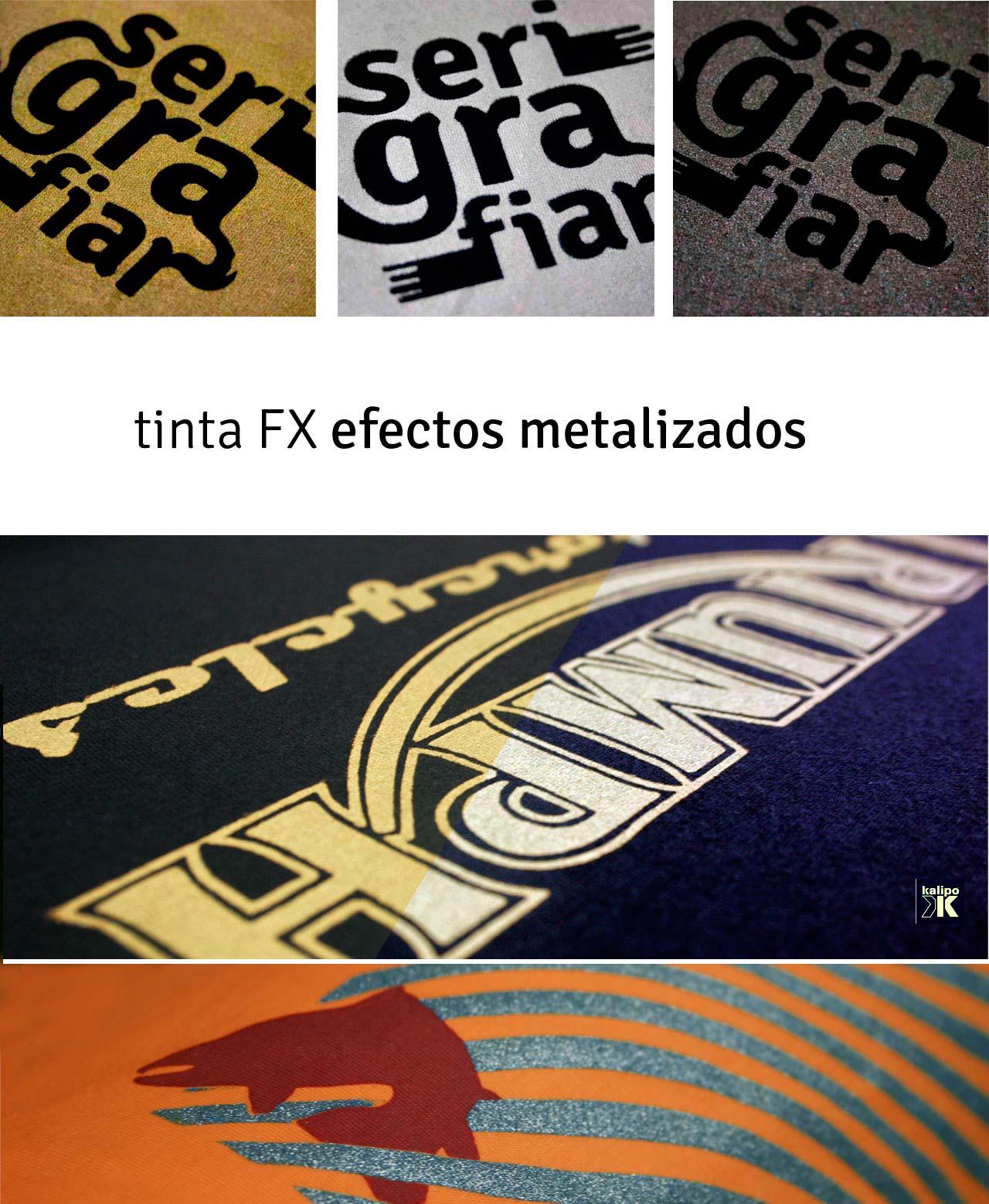 Tintas metalizadas para serigrafia