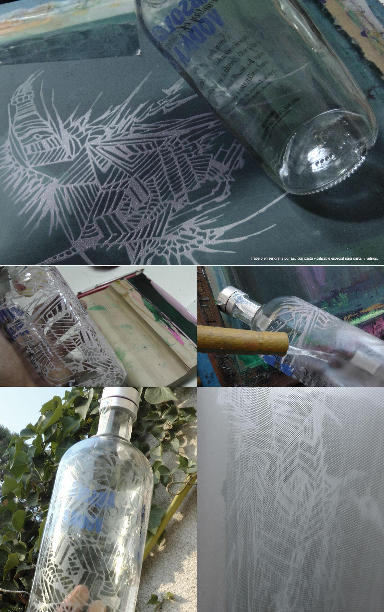 Tinta serigrafia sobre vidrio