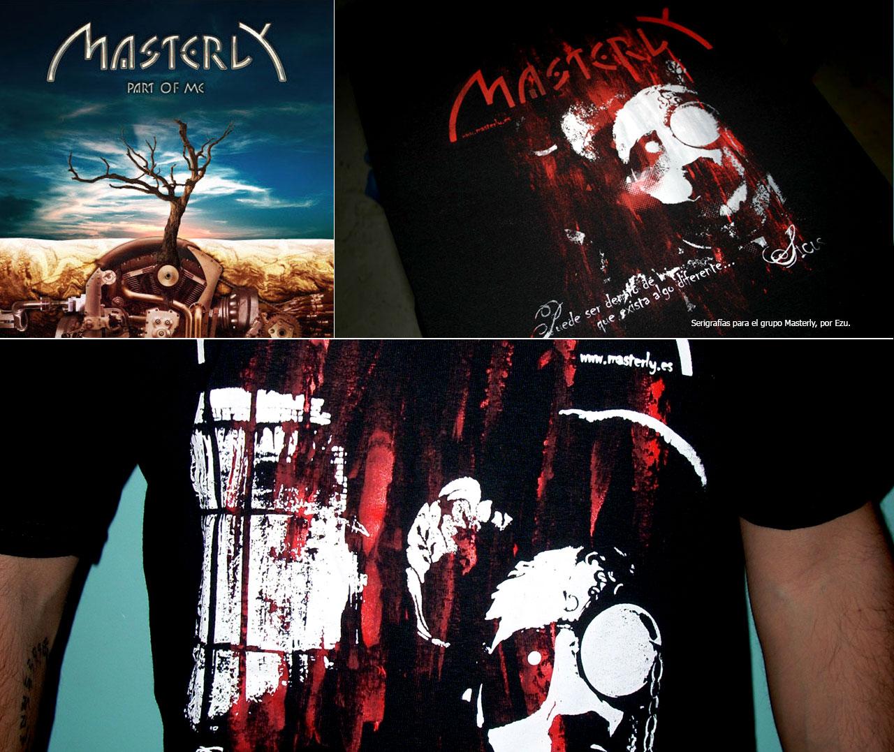 Serigrafias grupo música Masterly